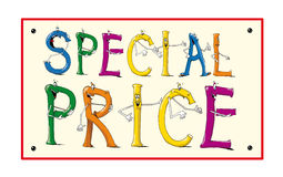 Price. Illustration colour coupon with business information Royalty Free Stock Photos