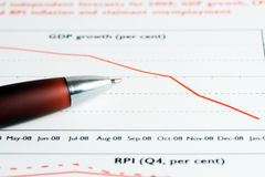 Price index analysis. Royalty Free Stock Photos