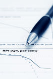 Price index analysis. Royalty Free Stock Photo