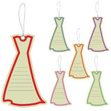 Price label tag of dresses Royalty Free Stock Image
