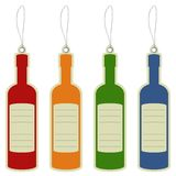 Price label tag wine bottle Royalty Free Stock Photography