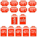 Price labels at a discount. Stock Photography
