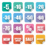 Price labels Royalty Free Stock Photo