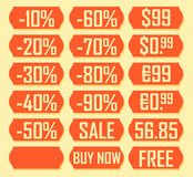 Price labels Royalty Free Stock Images