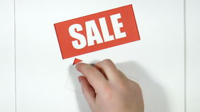 Price labels. Sale stock video