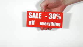 Price labels. Sale stock video footage