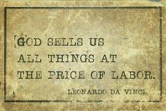 Price of labor DaVinci Royalty Free Stock Image