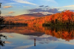Price Lake Autumn Reflections stock images