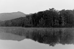 Price Lake in Black and White Stock Image