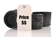 Price Of Lenses Royalty Free Stock Photography