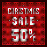 Price lists, discount template. Christmas Offer Discount 50 Royalty Free Stock Photography