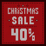 Price lists, discount template. Christmas Offer Discount 40 Royalty Free Stock Photo