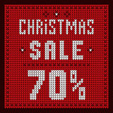 Price lists, discount template. Christmas Offer Discount 70 Stock Photos