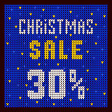 Price lists, discount template. Christmas Offer Discount 30 blue. Price lists, discount template. Christmas Offer Discount blue Stock Photo