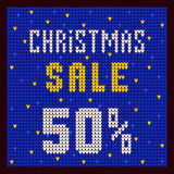 Price lists, discount template. Christmas Offer Discount 50 blue Stock Photos