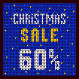 Price lists, discount template. Christmas Offer Discount 60 blue. Price lists, discount template. Christmas Offer Discount blue stock illustration
