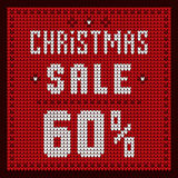 Price lists, discount template. Christmas Offer Discount 60 blue. Price lists, discount template. Christmas Offer Discount royalty free illustration