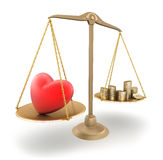 The price of love. 3d concept vector illustration