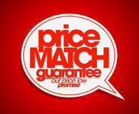 Price match guarantee bubble. Royalty Free Stock Photos