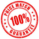 Price match guarantee business stamp. Vector illustration Stock Image