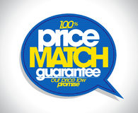 100% price match guarantee speech bubble. 100% price match guarantee speech bubble design Royalty Free Stock Photography