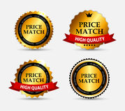 Price Match Label Set Vector Illustration Stock Photo