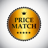 Price Match Label Vector Illustration Royalty Free Stock Photography