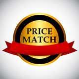 Price Match Label Vector Illustration Royalty Free Stock Photo
