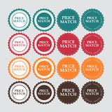Price Match Label Vector Illustration Royalty Free Stock Photos