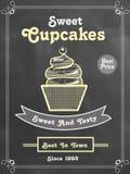Price menu card design for cupcake. Royalty Free Stock Images