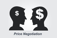 Price Negotiation concept. A Price Negotiation business concept royalty free illustration