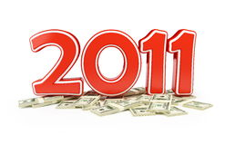 Price new year 2011 and Christmas gifts. On a white background stock illustration