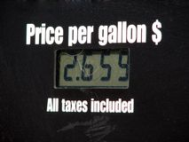 Price Per Gallon Stock Photo