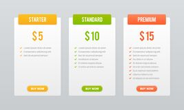 Price plans. Comparison table pricing grid, checklist price chart compare products tariff plan, business graphic for