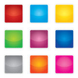 Colorful set of blank stickers Stock Photos