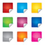 Price, promotion or bestseller vector blank sticke Stock Images