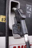Price at the pump. Close up details of gas station pump royalty free stock photos