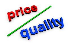 Price quality Royalty Free Stock Photo