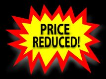 Price reduced Royalty Free Stock Photography