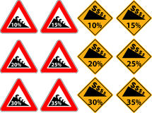 Price reduction as a traffic sign Stock Photos
