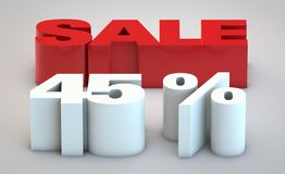 Sale - price reduction of 45 percent. Price reduction conceptual image 45 percent vector illustration