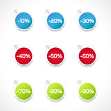 Price reduction labels Royalty Free Stock Images