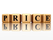 Price with reflection Stock Photo