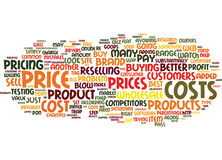 The Price Is Right How To Arrive At The Best Price For Your Products Text Background  Word Cloud Concept Royalty Free Stock Photography