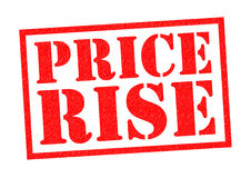 PRICE RISE Stock Images