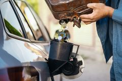 Price of rising fuel prices royalty free stock images