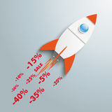 Price Rocket Royalty Free Stock Photos