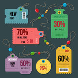 Price and sale tags Stock Photos