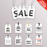 Price Sale Text Tag Symbol Labels Icons Set  Background Template Stock Photo