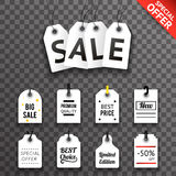 Price Sale Text Tag Symbol Labels Icons Set  Background Template Vector Illustration Royalty Free Stock Image